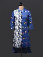 Shirt Collar High Low Cotton Kurti - Free Living