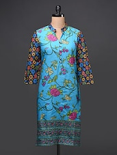 Cotton Floral Printed Kurti - Free Living