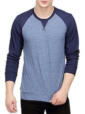 denim colored, cotton tee- shirt -  online shopping for T-Shirts