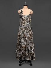 Animal Print Polycrepe Dress - Rose Vanessa