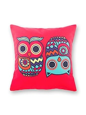 Red Cotton Cushion Cover - By