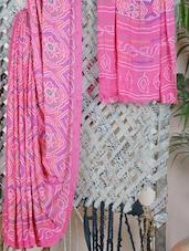 Georgette Bandhani Dyed Saree - Bandhni
