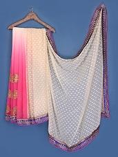 Pink And Beige Chiffon Saree - Suchi Fashion