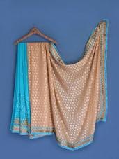 Sky Blue Chiffon Saree - Suchi Fashion