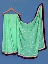 Green Chiffon Saree - Suchi Fashion