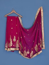 Purple Chiffon Saree - Suchi Fashion