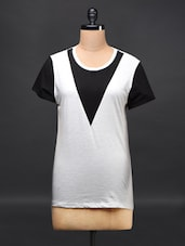 Colour Block Cotton Top - Femella