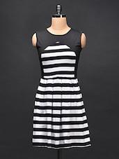 Striped Pleated Dress - STREET 9