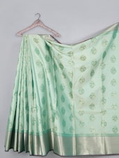 Cotton Saree With Zari Border - WEAVING ROOTS