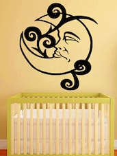 Moon With Face Wall Sticker - Decor Kafe