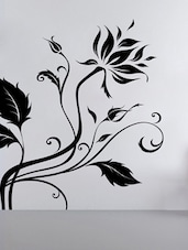 Flower With Leaves Wall Sticker - Decor Kafe