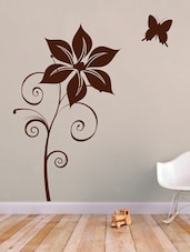 Flower With Butterfly Wall Sticker - Decor Kafe