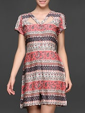 Ethnic Printed  Short Sleeve Jumpsuit - Magnetic Designs
