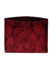 maroon genuine leather wallet -  online shopping for Wallets