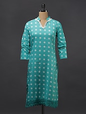 Polka Dots Lace Cotton Kurti - Aamii