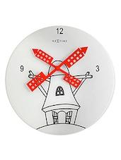 Windmill Glass Wall Clock - NeXtime