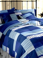 Blue Printed Cotton Double Bedsheet Set -  online shopping for bed sheet sets