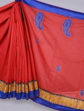Banarasi Chanderi Maroon  Saree - Avishi Saree