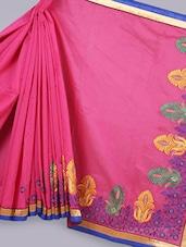 Banarasi Chanderi Pink  Saree - Avishi Saree