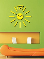 Multicoloured Wood Plain Analogue Wall Clock - By