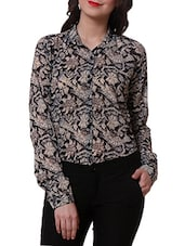 Full Sleeve Abstract Printed Shirt - Purys