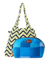 Chevron Tote Bag & Check Pouch Combo - Be... For Bag