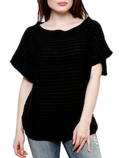 black poly cotton top -  online shopping for Tops