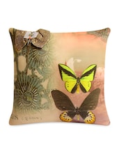 Butterfly Printed Embellished Cushion Cover - Per Inch