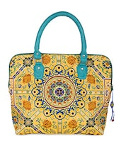 Floral Printed Brocade Handbag - The House Of Tara