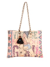 Graphic Printed Cotton Canvas Tote Bag - The House Of Tara - 1046884