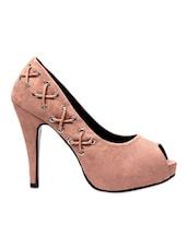 Light Brown Faux Leather High Heels - Klaur Melbourne