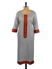 Round Neck Printed Kurta - Fashion205