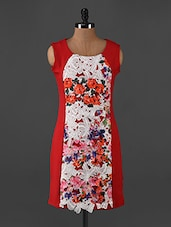 Red Floral Printed Sleeveless Mini Dress - Forever Fashion