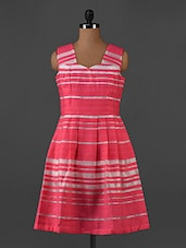 Striped Sleeveless A-Line Dress - Forever Fashion