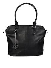 Black Leatherette Hand Bag - Hotberries