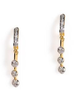 Two-tone Drop Earrings - Jorie Bazaar