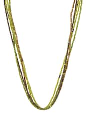 Multistrand Green Beads Wire Necklace - By