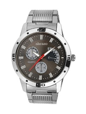 grey colored metal alloy quartz chronograph watch, with day diasplay -  online shopping for Chronograph Watches