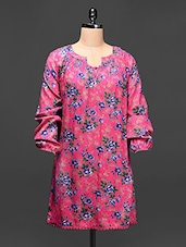 Floral Print Full Sleeves Viscose Tunic - Raaziba