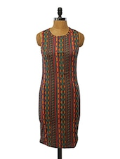 Multicoloured Polyester Printed Dress - VINEGAR