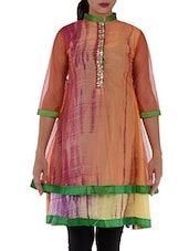 Double Layered Mandarin Neck Kurti - Villagsio