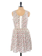 Floral Sleeveless Rayon Dress - Globus