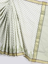 Jacquard Weave Pure Cotton Saree - BANARASI STYLE