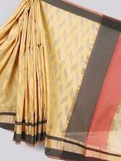 Geometric Body Cotton Silk Saree - BANARASI STYLE