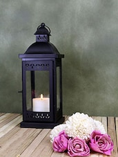 Hosley Black Decorative Lantern with Free Pillar Candle -  online shopping for Lanterns