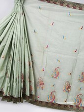 Light Green Art Silk Saree - Prabha Creations