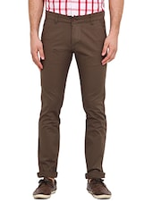 brown cotton casual trousers - Online Shopping for Casual Trousers