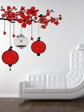 Chinese Lanterns And Birdcage Multi Color Wall Stickers - By