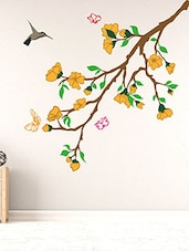 Flower Branches Multi Color Wall Stickers - By