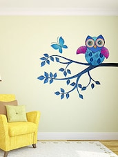 Whimsical Owl Multi Color Wall Stickers - By